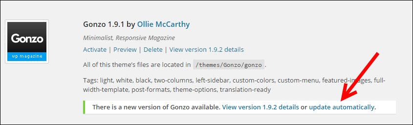 update-automatically-wordpress-template