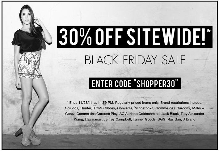black friday website sales banner