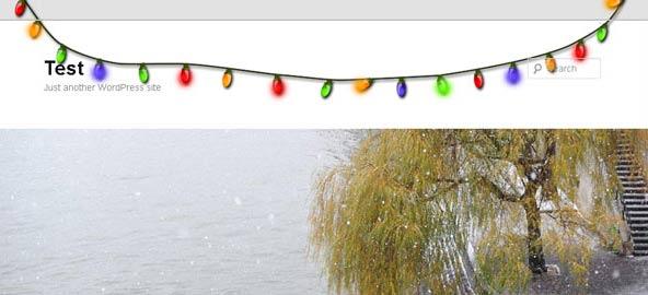 christmas lights effect for wordpress