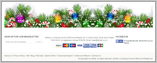 christmas website border
